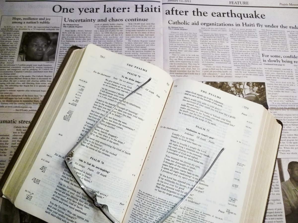 newspaper-and-bible